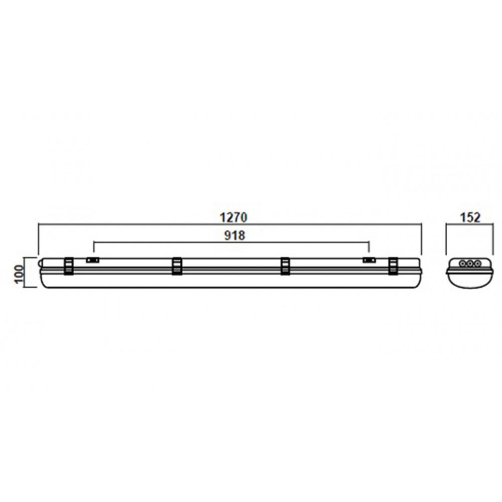 Промышленный LED светильник SVT-P-I-1280-50W-M