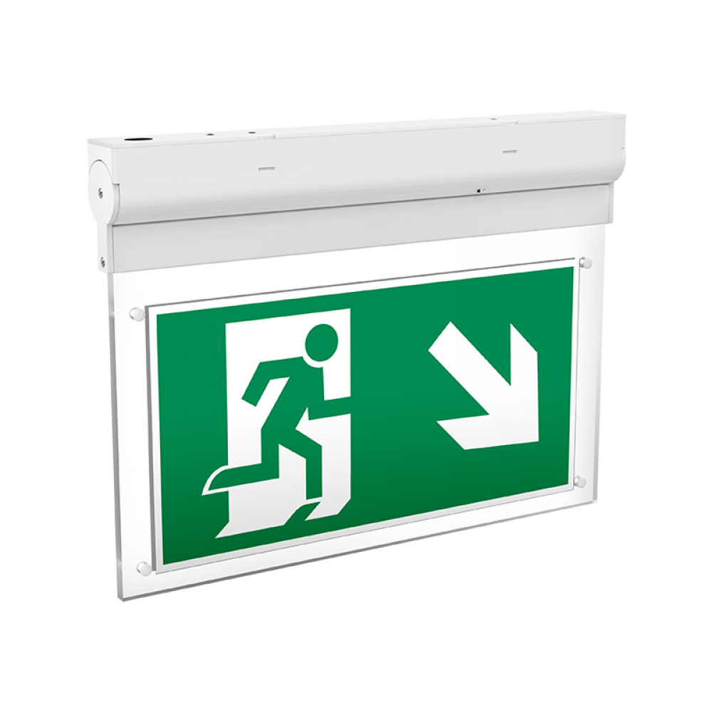 Светодиодный светильник Varton Bend аварийный непостоянного действия встраиваемый 3W IP20 LiFePO4 аккумулятор 1 час для коридора, V1-EM-00480-10A00-2000465