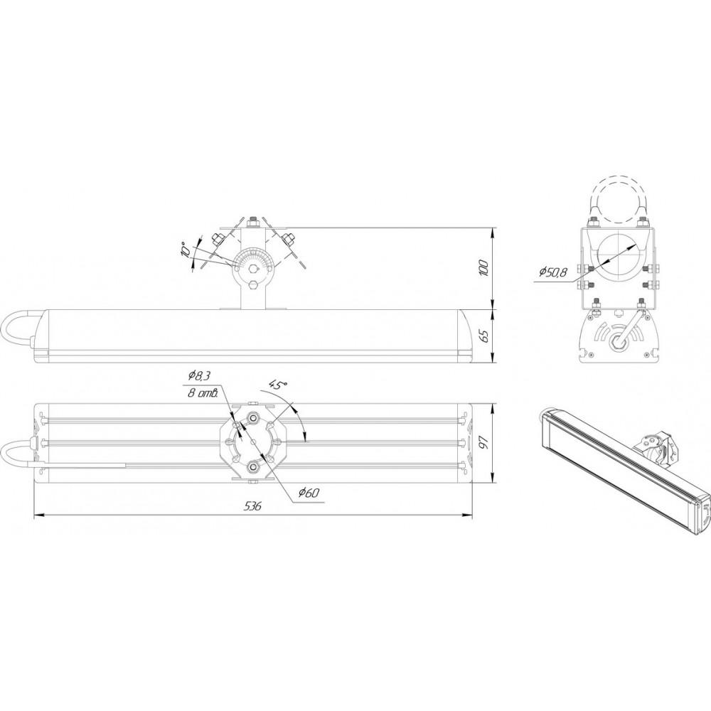Светодиодный уличный светильник SVT-STR-MPRO-91W-C (MW)
