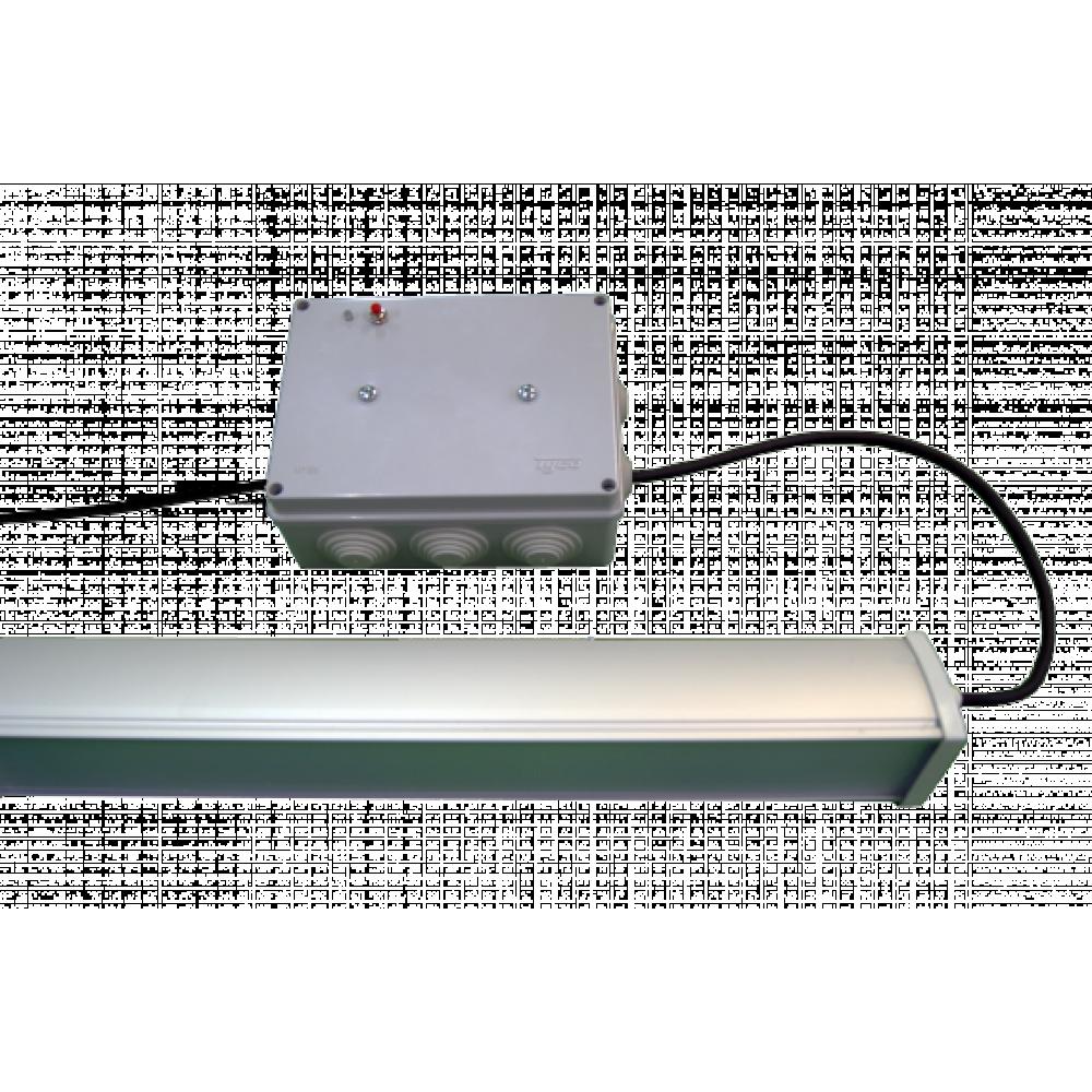 Светодиодный светильник аварийный ДиУС-90 линейный с БАП